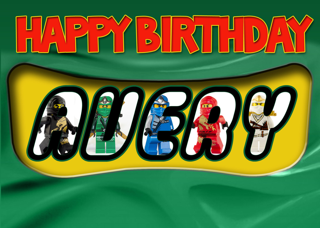 Lego Ninjago Birthday Card – Lego Birthday Card